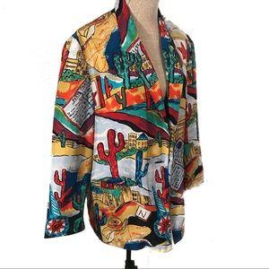 AMAZING 100% silk vintage blazer jacket